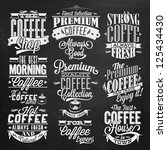 set of vintage retro coffee ... | Shutterstock .eps vector #125434430