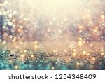 beautiful snowflakes on an... | Shutterstock . vector #1254348409
