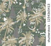 abstract beautiful seamless... | Shutterstock .eps vector #1254365413