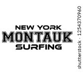 montauk surfing. urban apparel... | Shutterstock .eps vector #1254370960