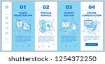 medical service onboarding... | Shutterstock .eps vector #1254372250