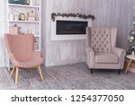 chair on the background of the... | Shutterstock . vector #1254377050