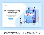 document archiving and storage... | Shutterstock .eps vector #1254380719