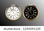 vintage luxury golden wall... | Shutterstock .eps vector #1254391120
