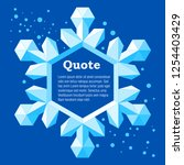 realistic icy snowflake. frame... | Shutterstock .eps vector #1254403429