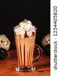 beautifully designed latte... | Shutterstock . vector #1254405820