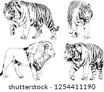set of vector drawings on the... | Shutterstock .eps vector #1254411190