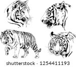 set of vector drawings on the... | Shutterstock .eps vector #1254411193