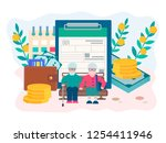 social security benefits form... | Shutterstock .eps vector #1254411946