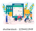 social security disability... | Shutterstock .eps vector #1254411949