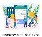 social security benefits form...   Shutterstock .eps vector #1254411970