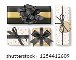 beautiful different gift box... | Shutterstock .eps vector #1254412609
