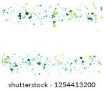 blast  broken glass memphis... | Shutterstock .eps vector #1254413200