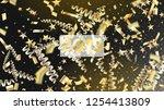 2019 magic glitter confetti ... | Shutterstock .eps vector #1254413809