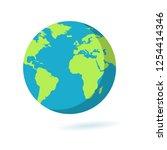 flat earth icon. planet symbol...   Shutterstock . vector #1254414346