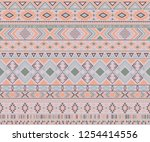 navajo american indian pattern... | Shutterstock .eps vector #1254414556