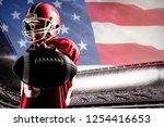 american football player... | Shutterstock . vector #1254416653