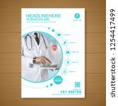 health care cover a4 template... | Shutterstock .eps vector #1254417499