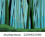 bamboo as a background on... | Shutterstock .eps vector #1254421540