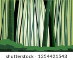 bamboo as a background on... | Shutterstock .eps vector #1254421543