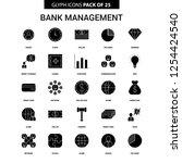 bank management glyph vector... | Shutterstock .eps vector #1254424540