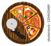 graphic illustration logo for... | Shutterstock . vector #1254433489