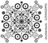 vector circuit board and... | Shutterstock .eps vector #1254433993