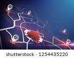 global positioning system... | Shutterstock .eps vector #1254435220