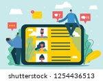 vector illustration  flat style ... | Shutterstock .eps vector #1254436513