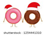 Pink And Choco Christmas Donut...