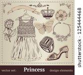 "vector set ""princess"". | Shutterstock .eps vector #125444468"