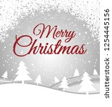 merry christmas greeting card... | Shutterstock .eps vector #1254445156