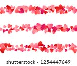 red flying hearts bright love... | Shutterstock .eps vector #1254447649