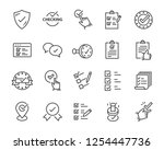 set of checkmark vector line... | Shutterstock .eps vector #1254447736