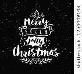merry christmas. typography.... | Shutterstock .eps vector #1254449143