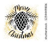 merry christmas. typography.... | Shutterstock .eps vector #1254449806