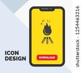 fire  flame  bonfire  camping ... | Shutterstock .eps vector #1254463216