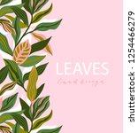 greenery greeting invitation... | Shutterstock .eps vector #1254466279