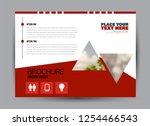 flyer  brochure  billboard... | Shutterstock .eps vector #1254466543