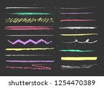 grunge lines with colorful... | Shutterstock .eps vector #1254470389