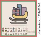 christmas santa claus sled... | Shutterstock .eps vector #1254472846