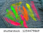 the texture of denim with... | Shutterstock . vector #1254479869