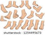 cartoon white man or woman... | Shutterstock .eps vector #1254495673