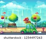 vector illustration image car... | Shutterstock .eps vector #1254497263