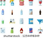 color flat icon set spice flat... | Shutterstock .eps vector #1254498349