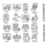 business management line icons. ... | Shutterstock .eps vector #1254498949