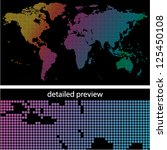 colorful dotted world map on... | Shutterstock .eps vector #125450108