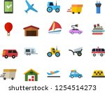 color flat icon set tractor... | Shutterstock .eps vector #1254514273
