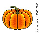 pixel big art pumpkin detailed... | Shutterstock .eps vector #1254515263