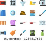 color flat icon set sink flat... | Shutterstock .eps vector #1254517696